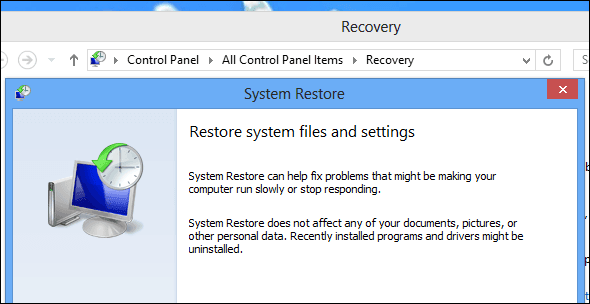 How to Restore, Refresh or Reset windows 8
