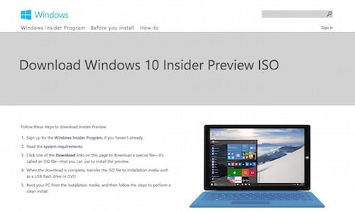 How to Install Windows 10 Technical Preview on Mac