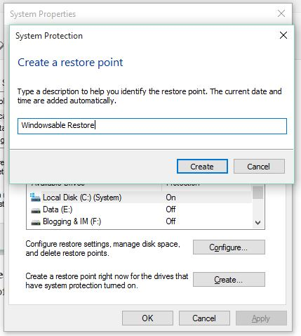 how to fix windows 10 probs with no restore points
