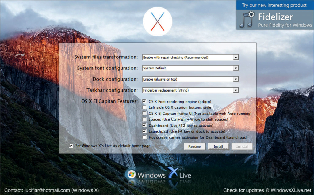 How to get mac os x el capitan theme on windows 10 windowsable install el capitan transformation pack 20 procedure ccuart Gallery