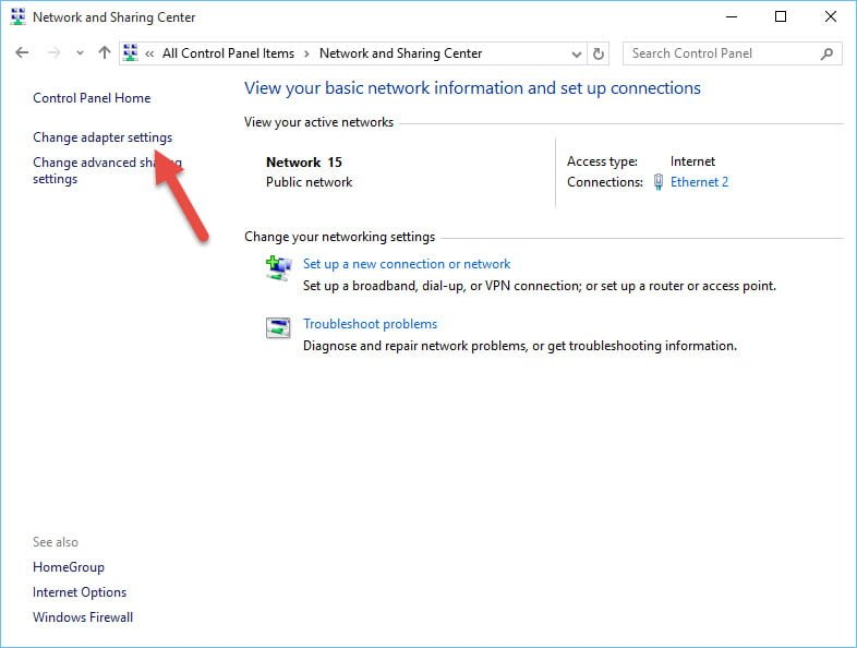how to change public network to home network in windows 8.1