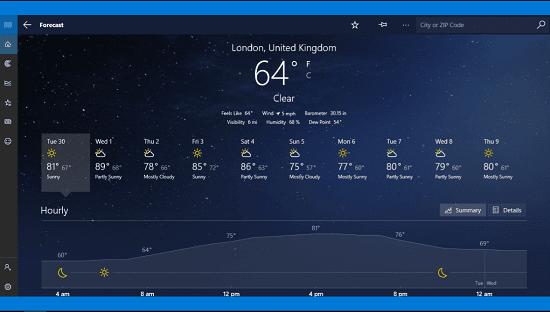 msn weather for windows 10