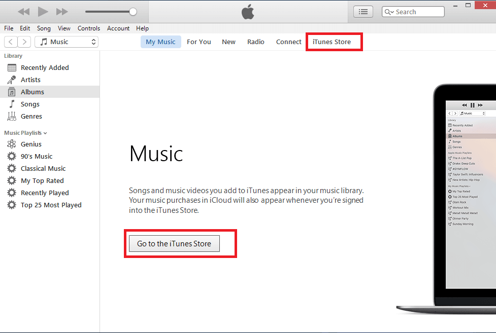 purchase item from itune store