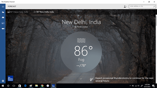 the weather channel app for windows 10
