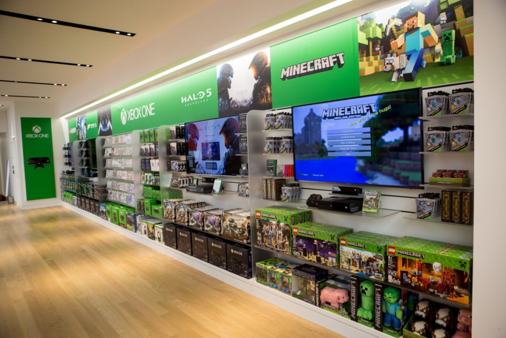 Minecraft at the Microsoft Store