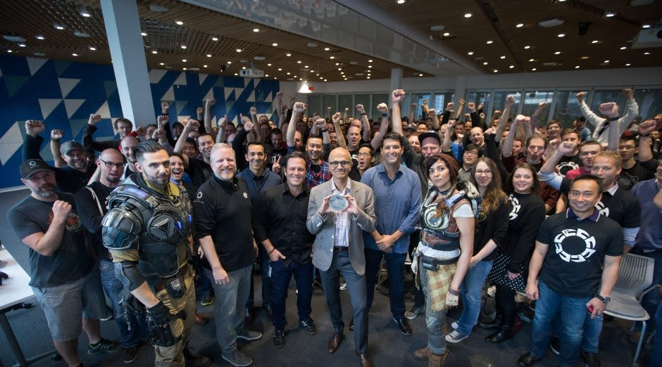 Gears of War 4 goes gold at the Microsoft Canada Excellence Center in Vancouver