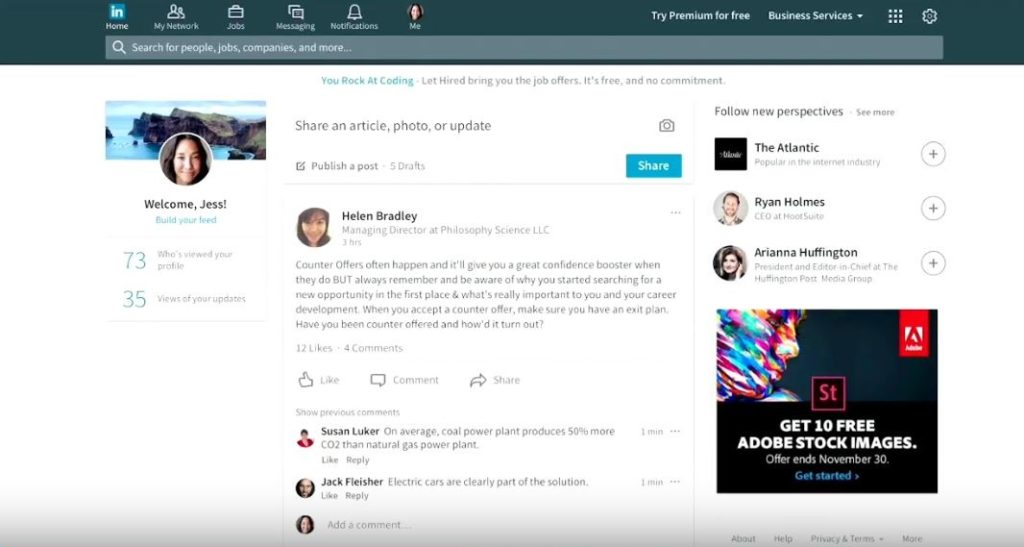 LinkedIn Desktop Redesign