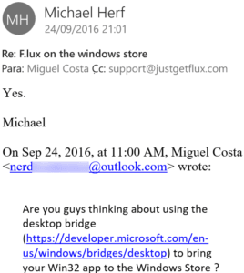 f.lux Email