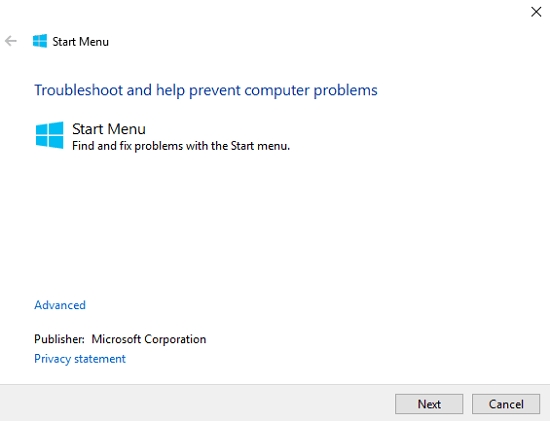 start-menu-troubleshooter