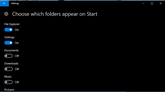 which-folder-to-appear-in-the-start-menu-of-windows-10
