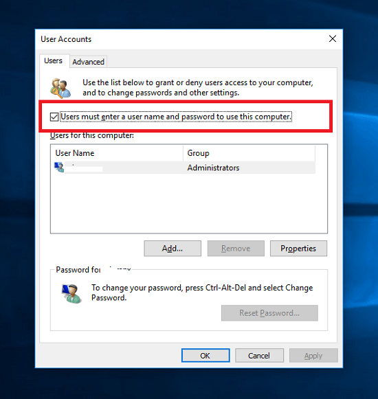 how-to-remove-the-password-login-from-windows-10