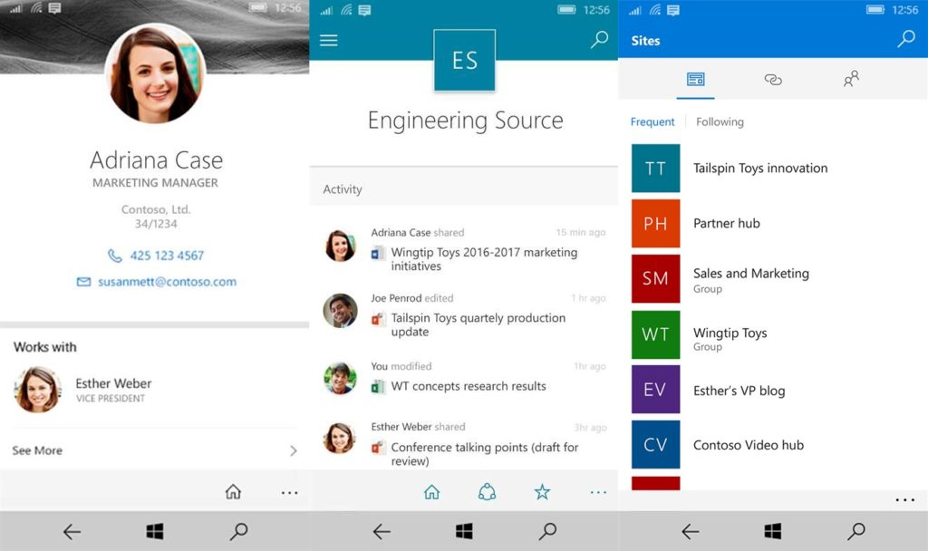 Microsoft SharePoint for Windows 10 Mobile