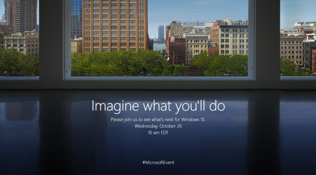Microsoft October 26th 2016 Event