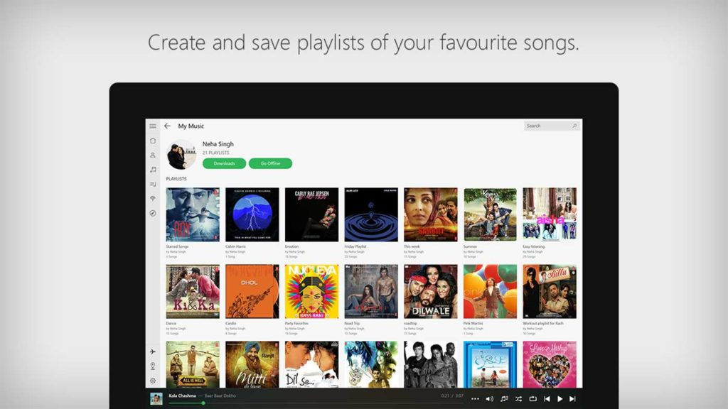 saavn app for windows 10 now lets you sync downloaded