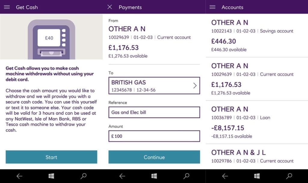 NatWest for Windows 10 Mobile