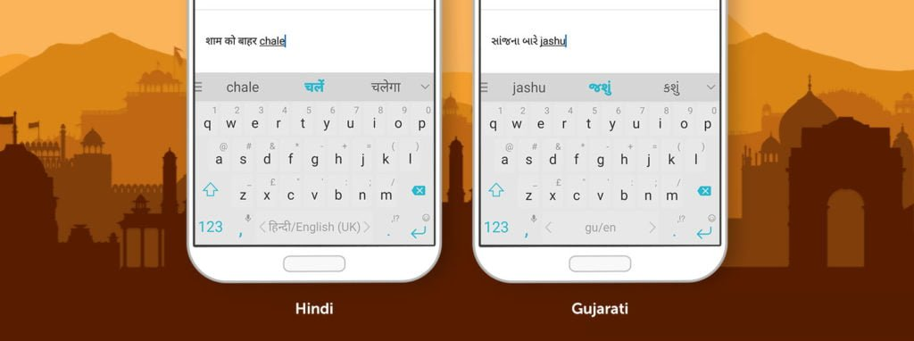 SwiftKey transliteration support for Hindi and Gujarati