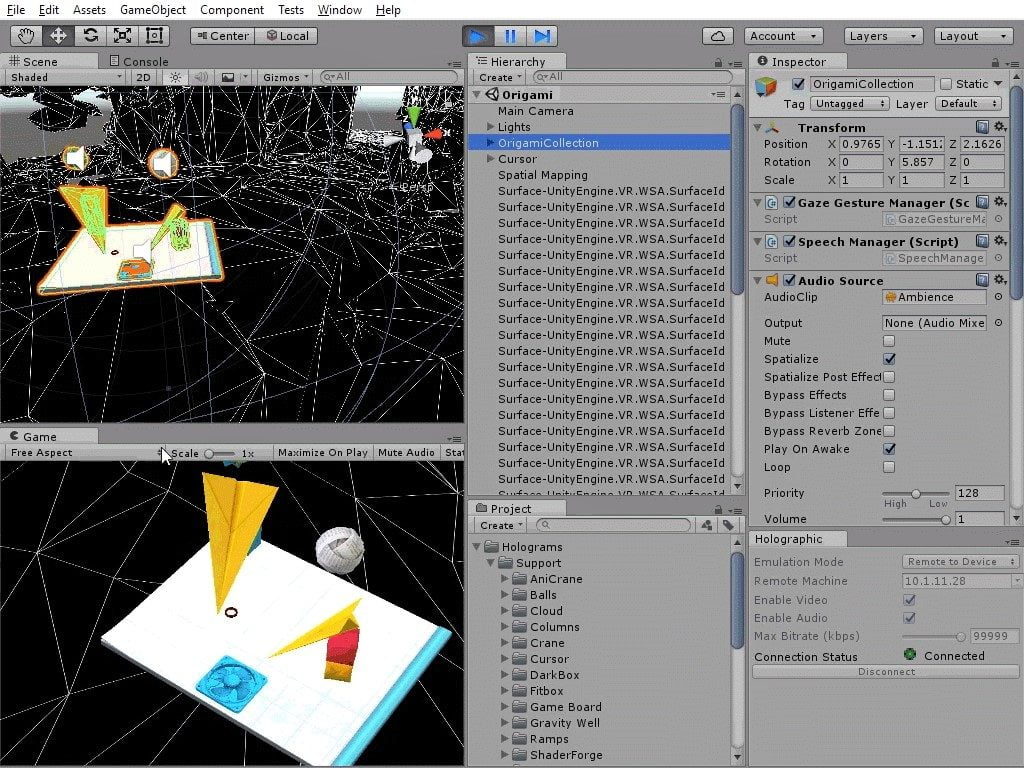 Unity 5.5 for Windows Holographic