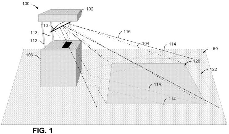 Microsoft Surface projector patent