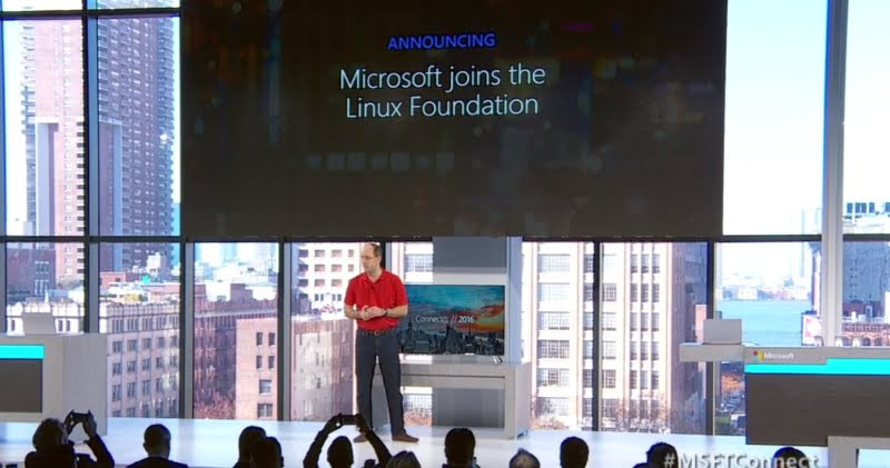 Microsoft joins The Linux Foundation at Connect();