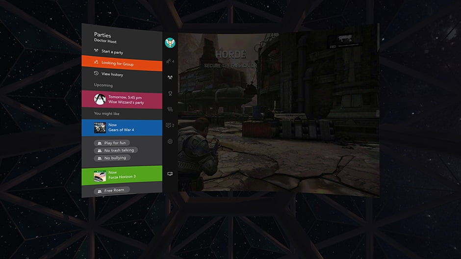 Xbox One VR with Oculus Rift