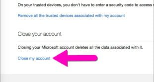 close or delete outlook.com email